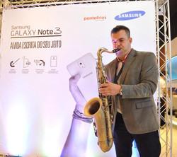 Saxofone no Evento da Samsung