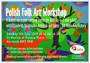Polish Folk Art Workshop A4 flyer Englis