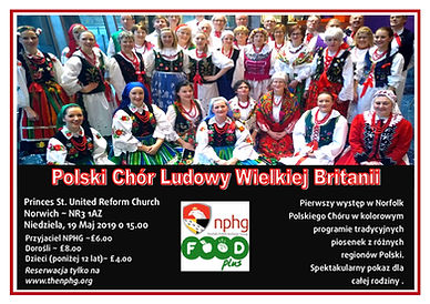 National Polish Folk Choir A4  flyers -