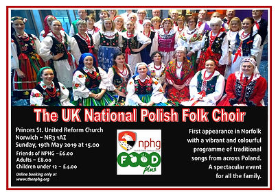 National Polish Folk Choir A4 poster - E