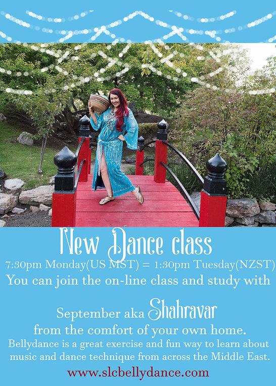 online bellydance class