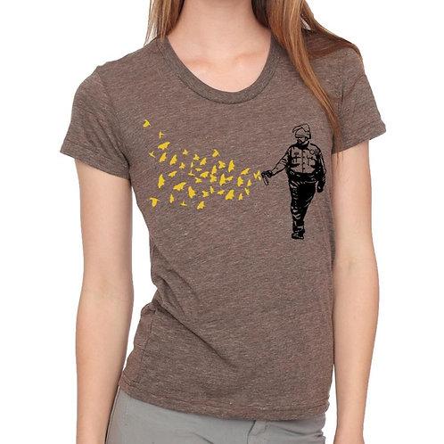 Pepper Spray Cop t-shirt, women's cut