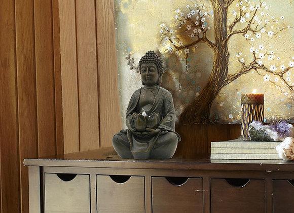 Zen Buddha Statue & Tea Light Holder