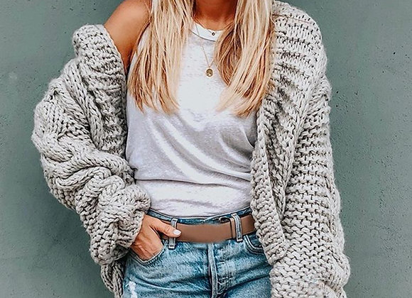 Long Sleeve Knitted Sweater Coat