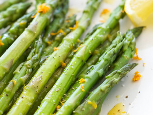Chilled Vegan Asparagus Salad w/ Lemon Zest