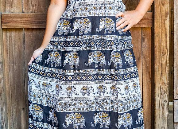 Elephant Boho Gypsy Dress