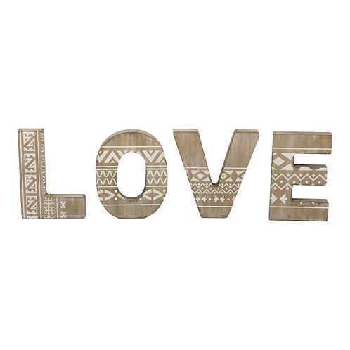 """Natural Wood """"LOVE"""" Wall Art"""