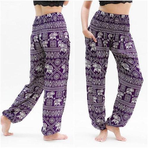 Purple Elephant Pants Harem Pants Boho Pants