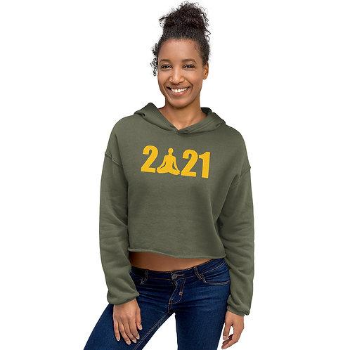 AN OM-Azing New Year, Crop Sweatshirt