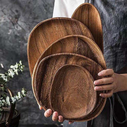 Handcrafted Acacia Wood Serving Trays & Platters