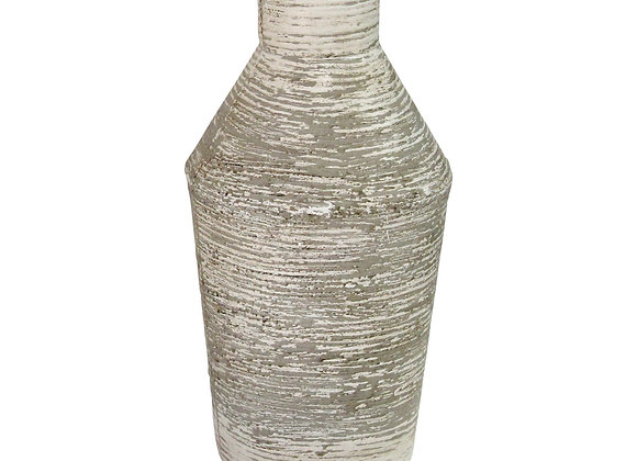 Rustic White Grey Metal Table Vase