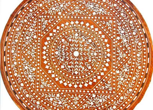 Sheesham Wood Beautiful Mandala-Boho Mini Table