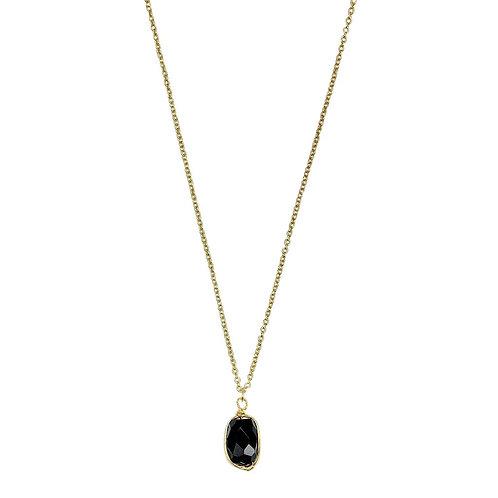 Black Quartz Pendant Necklace
