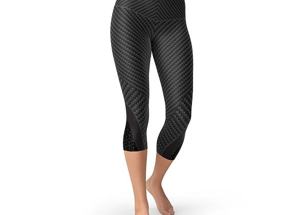 Carbon Fiber Sports Capri Leggings