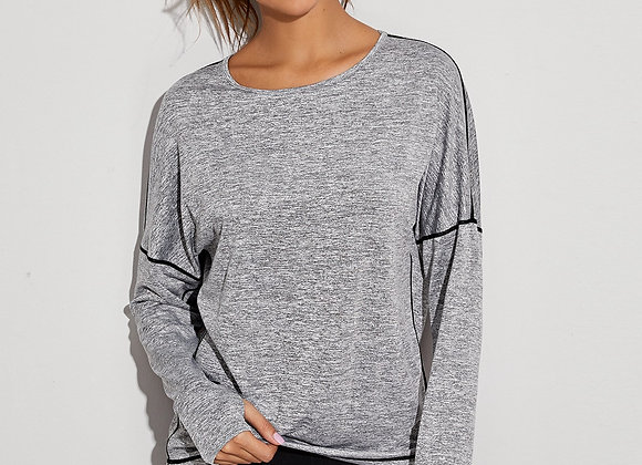 Long Sleeve Sports Tee w/ Open Back