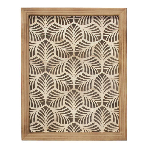 Wood Leaf Pattern Wall Art
