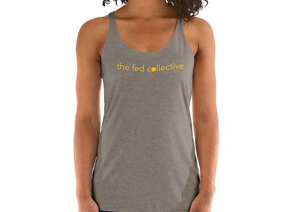 """""""the fed collective"""" Women's Racerback Tank"""