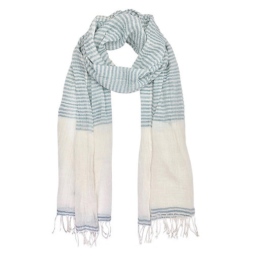 Striped Cotton Blend Wrap