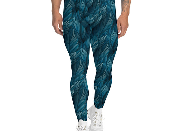 Teal Feather Leggings for Men