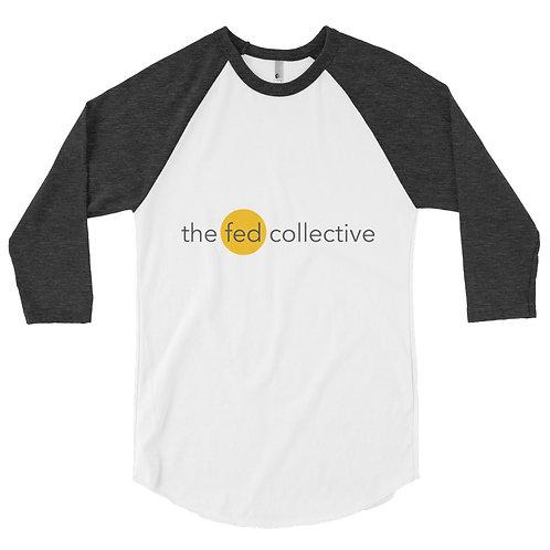 """""""the fed collective"""" 3/4 sleeve raglan shirt"""