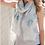 Thumbnail: Blue & White Boho Handprint Crinkle Scarf