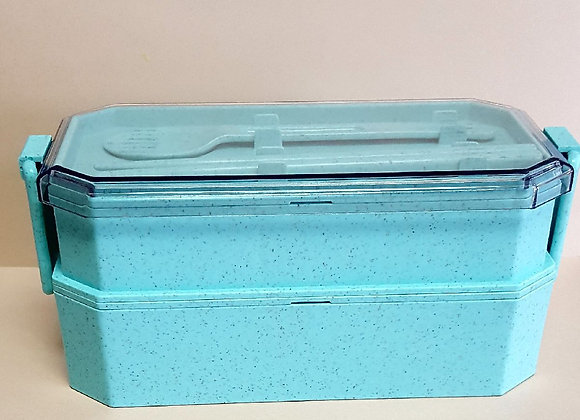 2-tier Wheat Fiber Lunch Box