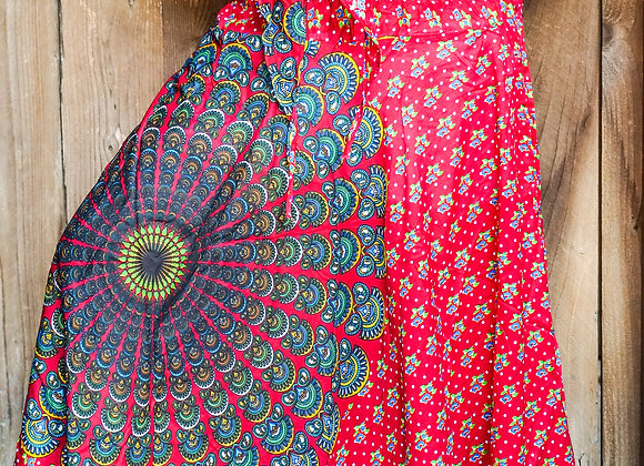 Red Chakra Boho Gypsy Skirt