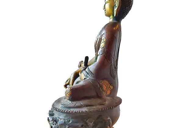 Medium Healing Buddha Brass Statue