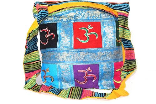 Om Patchwork & Jacquard with Elephants Sling Jhola Bag