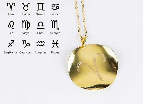 Personalized Zodiac Symbol Pendant Horoscope