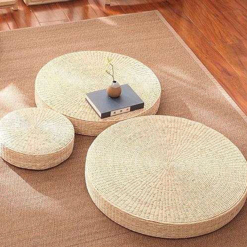 Handmade Straw Meditation Cushion