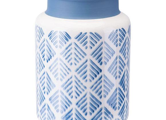 Blue And White Steel Vase