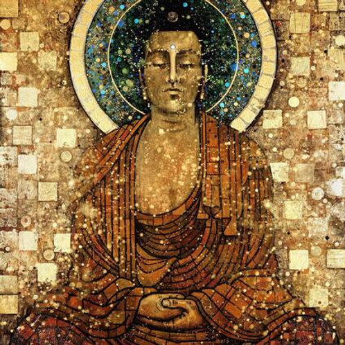 "Vintage ""Buddha In Meditation"" Print"
