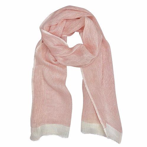 Hand-spun Linen Pink Wrap