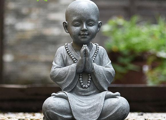 """Meditating Baby Buddha Statue - 11.2"""" height"""