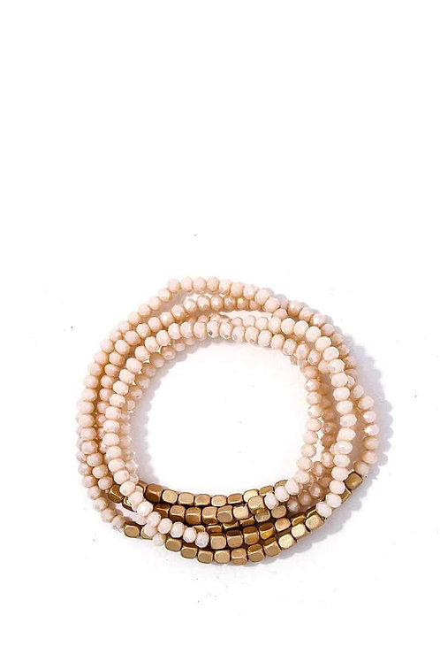 5 Multi Beaded Trendy Bracelets