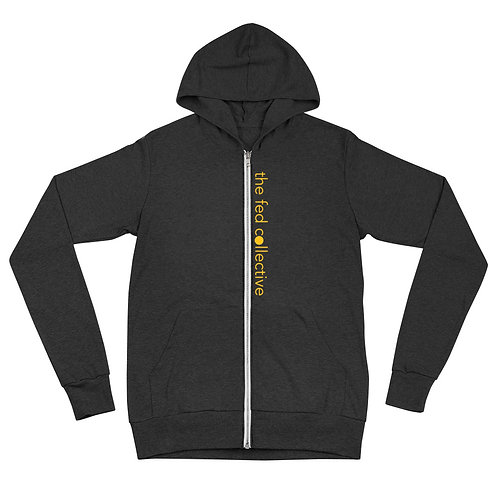 """the fed collective"" Unisex zip hoodie"