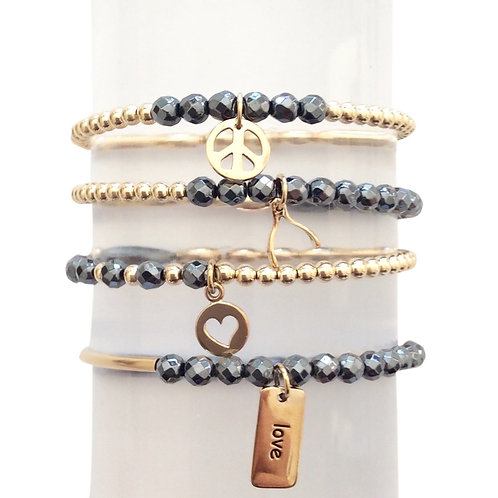 Small Hematite Beaded Bracelet (4)