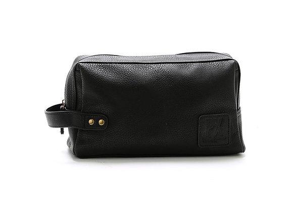 Black Fletcher Vegan Leather Dopp Kit
