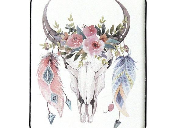 Boho Skull & Feather Wall Art
