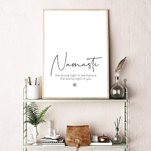 """Namaste"" Canvas Print Poster"