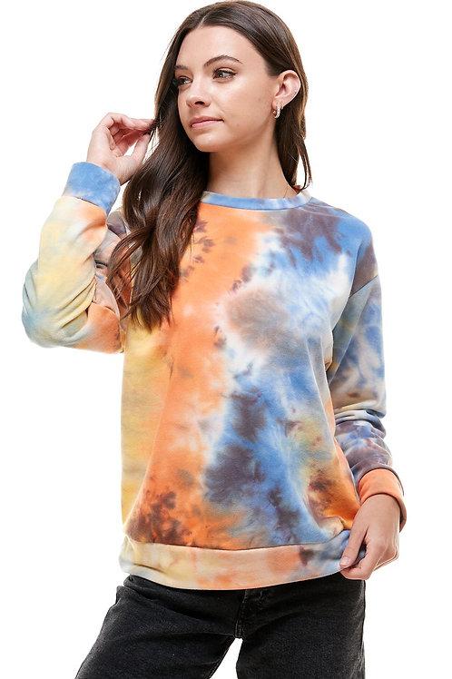 French Terry Cloth Tie-Dye Sweatshirt