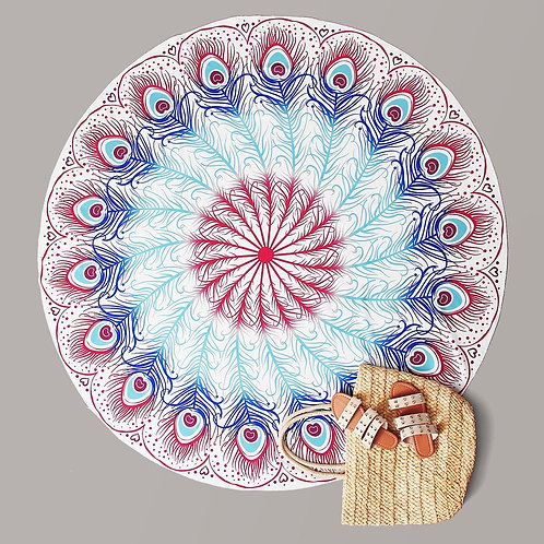 Tribal Pattern Round Beach Blanket
