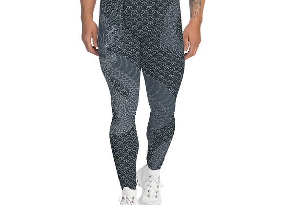 Dragon Leggings for Men Gunmetal Gray