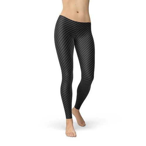Black Carbon Fiber Leggings