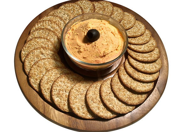 Hors d'oeuvres Tray for Dip w/ Glass Bowl