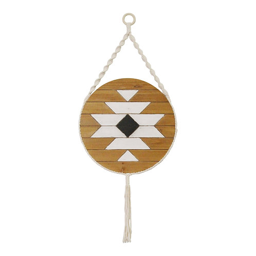 Sacred Mayan-Inspired Wood & Rope Wall Art