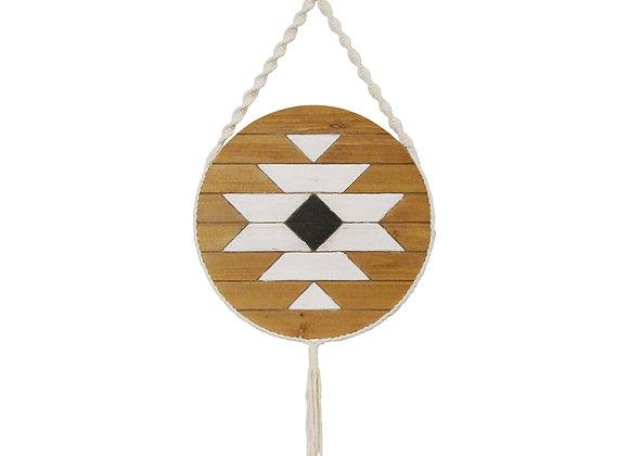 Sacred Mayan-Inspired Wood & Rope Wall Art