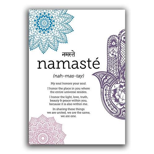 """Namaste"" - Bright Print on Canvas"