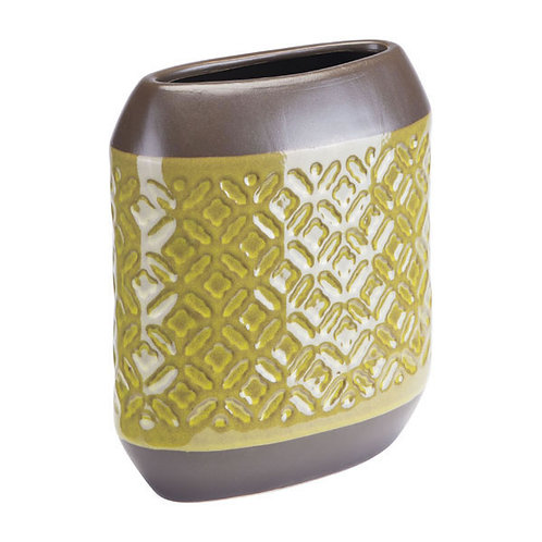 Petite Olive Green Square Vase